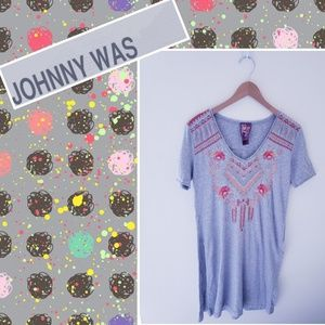 Johnny Was Tunic Embroided Shirt